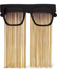 Stella McCartney | Chain-embellished D-frame Acetate Sunglasses | Lyst