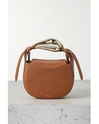 Chloé Kiss Small Leather Tote - Brown