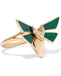 Stephen Webster - Jitterbug 18-karat Gold, Diamond And Enamel Ring - Lyst