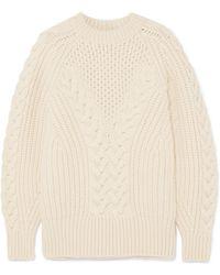 Alexander McQueen - Cable-knit Wool Jumper - Lyst