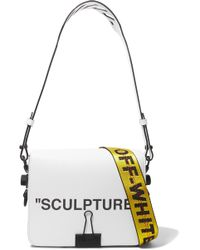 Off-White c/o Virgil Abloh - Printed Textured-leather Shoulder Bag - Lyst