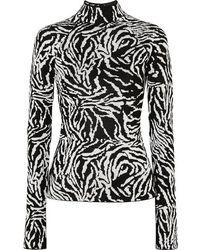 Proenza Schouler - Jacquard-knit Turtleneck Sweater - Lyst