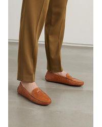 Tod's Gommino Loafers Aus Leder Mit Krokodileffekt - Braun