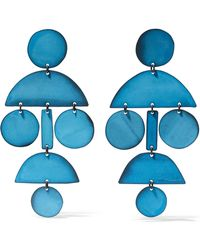 Annie Costello Brown - Pompom Oxidized Earrings - Lyst