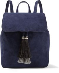Loeffler Randall - Horse Hair-trimmed Suede Backpack - Lyst