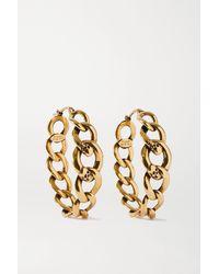 Alexander McQueen Gold-tone Hoop Earrings - Metallic