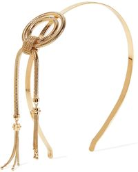 Prada - Gold-tone Headband - Lyst