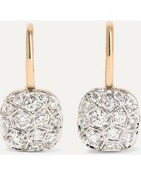 Pomellato Nudo 18-karat Rose And White Gold Diamond Earrings - Metallic