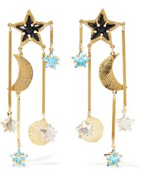 Mercedes Salazar | Gold-tone, Bead And Crystal Clip Earrings | Lyst