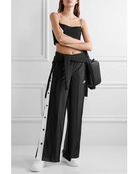 Nike Glam Dunk Striped Satin-jersey Track Pants - Black