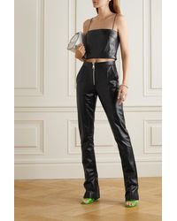 16Arlington - Darien Leather Slim-leg Pants - Lyst