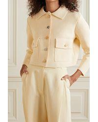 Adam Lippes Embellished Cotton Jacket - Natural