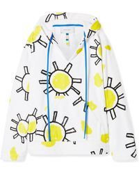 Mira Mikati - Oversized Printed Cotton-terry Hoodie - Lyst