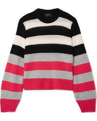 Rag & Bone - Annika Striped Cashmere Jumper - Lyst