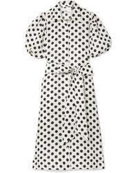 Lisa Marie Fernandez - Polka-dot Linen Midi Dress - Lyst