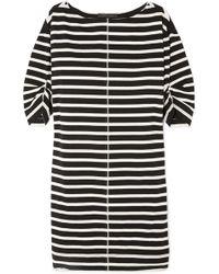 Marc Jacobs - Printed Striped Cotton-jersey Mini Dress - Lyst