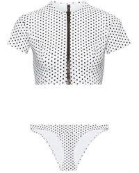 Lisa Marie Fernandez Farrah Polka-dot Bonded Bikini - White