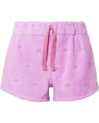 Tomas Maier - Flocked Cotton-terry Shorts - Lyst