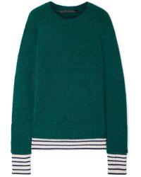 Haider Ackermann - Striped Wool-blend Sweater - Lyst