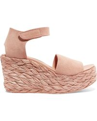 Pedro Garcia - Dory Suede Espadrille Wedge Sandals - Lyst