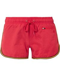Perfect Moment - Striped Washed-twill Shorts - Lyst