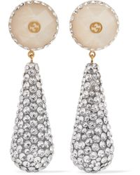 Gucci - Gold-plated, Resin And Crystal Earrings - Lyst
