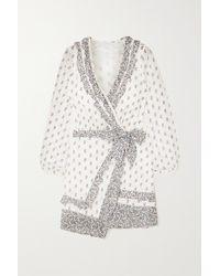 Veronica Beard - Kierra Ruffled Floral-print Cotton-voile Mini Wrap Dress - Lyst