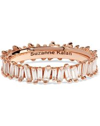Suzanne Kalan | 18-karat Rose Gold Diamond Ring | Lyst