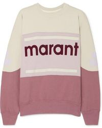 Étoile Isabel Marant Gallian Flocked Cotton-blend Jersey Sweatshirt - Multicolor