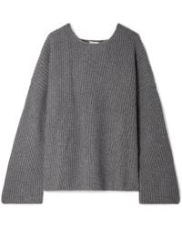 Le Kasha - Seoul Open-back Ribbed Cashmere Sweater - Lyst