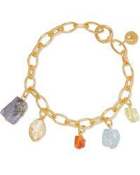 Monica Vinader + Caroline Issa Armband Aus Gold-vermeil Mit Mehreren Steinen - Mettallic