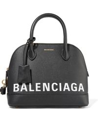 Balenciaga - Ville Printed Textured-leather Tote - Lyst