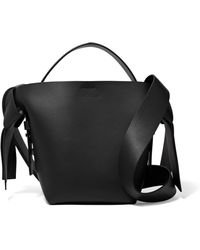 5e6f11d4f0484 Lyst - Acne Studios Crossbody Mini Leather Shoulder Bag in Black