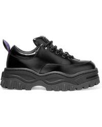 Eytys - Angel Glossed-leather Platform Sneakers - Lyst