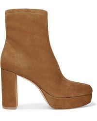 Diane von Furstenberg - Yasmine Suede Platform Ankle Boots - Lyst