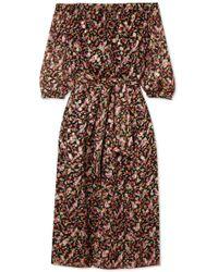 Vanessa Seward Flandre Floral-print Silk-blend Jacquard Midi Dress - Black