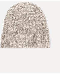 Johnstons of Elgin + Net Sustain Donegal Ribbed Cashmere Beanie - Multicolour