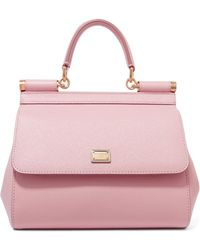 Dolce & Gabbana - Sicily Small Textured-leather Tote - Lyst