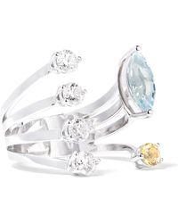 Delfina Delettrez - 18-karat White Gold Multi-stone Ring - Lyst