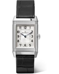 Jaeger-lecoultre - Reverso Classic Small 21mm Stainless Steel And Alligator Watch - Lyst