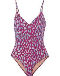Marios Schwab - Asterias Leopard-print Swimsuit - Lyst