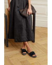 Alexandre Birman Clarita Bow-embellished Satin And Suede Espadrille Sandals - Black