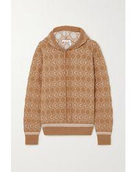 Chloé Jacquard-knit Wool-blend Hoodie - Multicolour