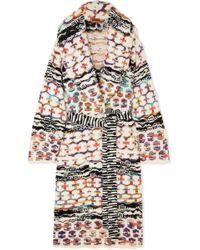 Missoni - Belted Wool-blend Coat - Lyst
