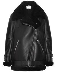 Acne Studios - Velocite Shearling And Leather Aviator Jacket - Lyst
