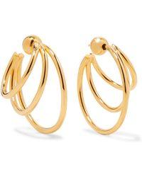 Sophie Buhai - Gold Vermeil Hoop Earrings - Lyst