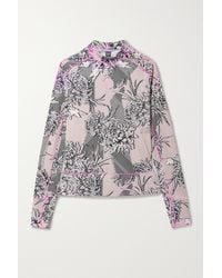 adidas By Stella McCartney Truepurpose Perforated Floral-print Recycled Stretch Top - Multicolor