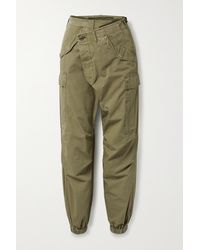 R13 Crossover Cotton-ripstop Tapered Cargo Trousers - Green
