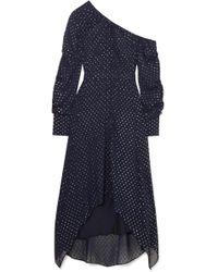 Jonathan Simkhai - One-shoulder Metallic Georgette Maxi Dress - Lyst