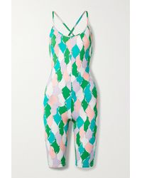 Emilio Pucci + Net Sustain Printed Recycled Stretch Playsuit - Green
